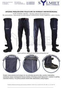 Spodnie przejsciowe granatowe policja nowe umundurowanie