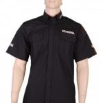 Koszula czarna exclusive krótki rękaw