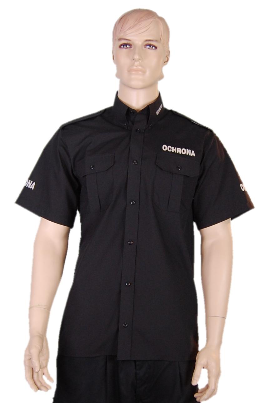 Koszule czarne exclusive dla agencji ochrony, producent koszul  OSxTp