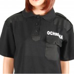 koszulka polo czarna ochrona